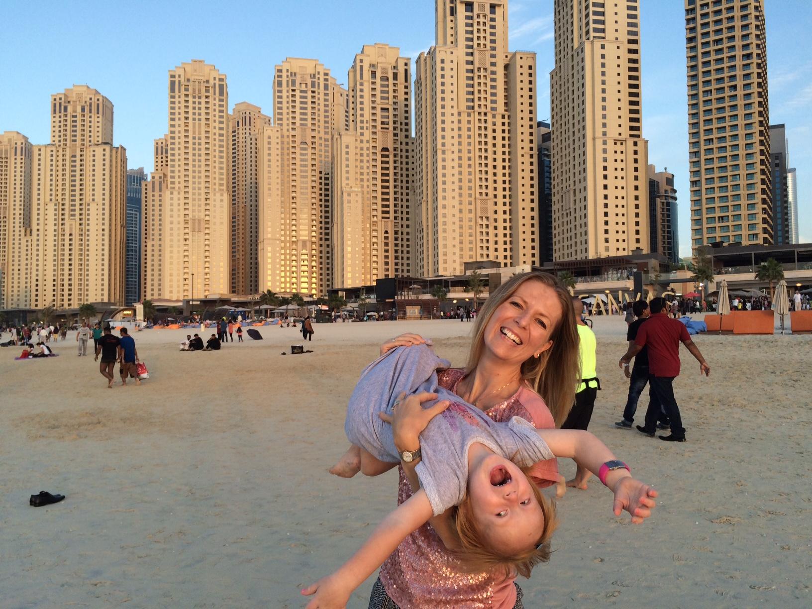 Dubai Marina - Tine og Mille 2