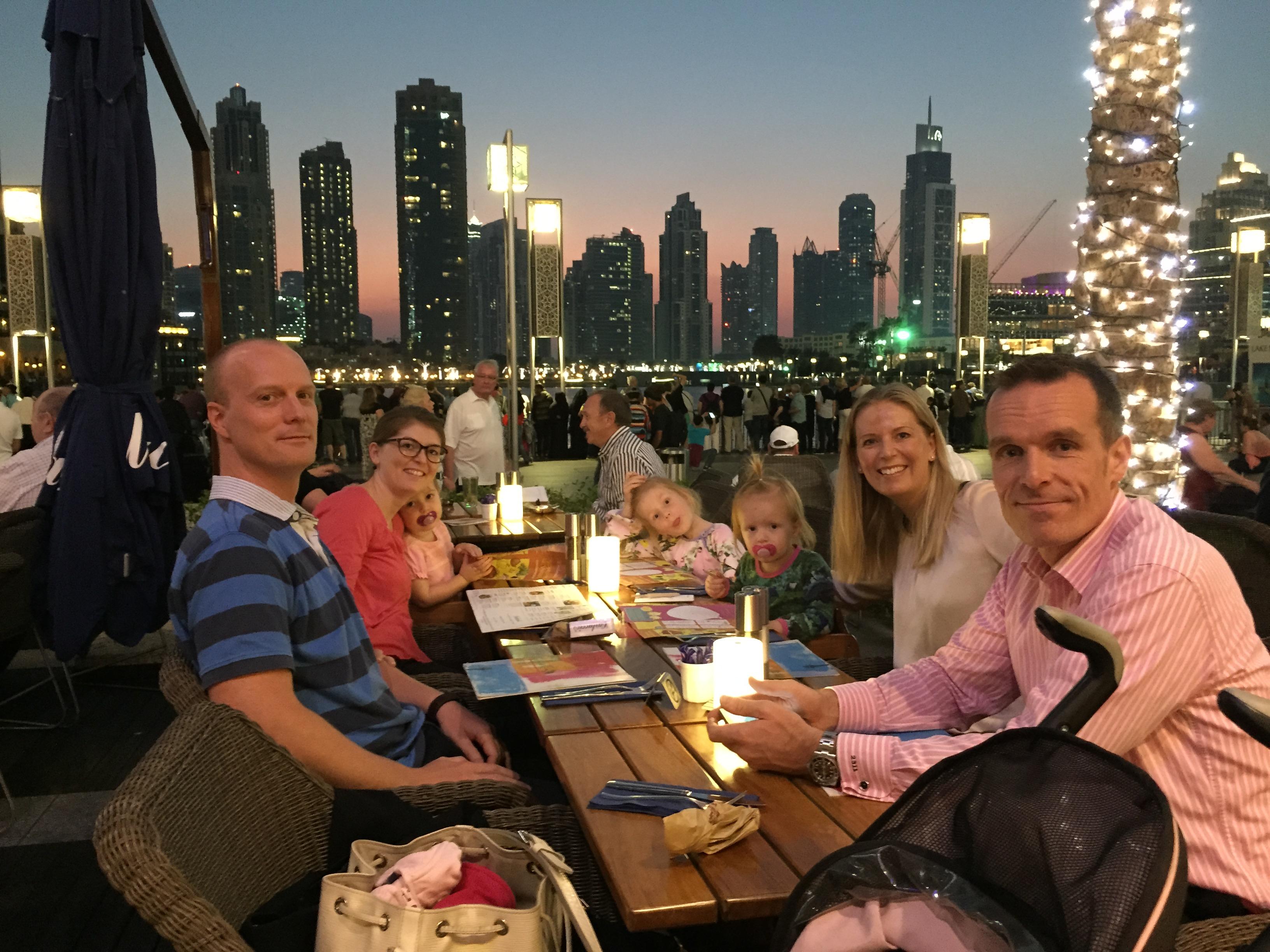 Fam Nissen i Dubai 2014