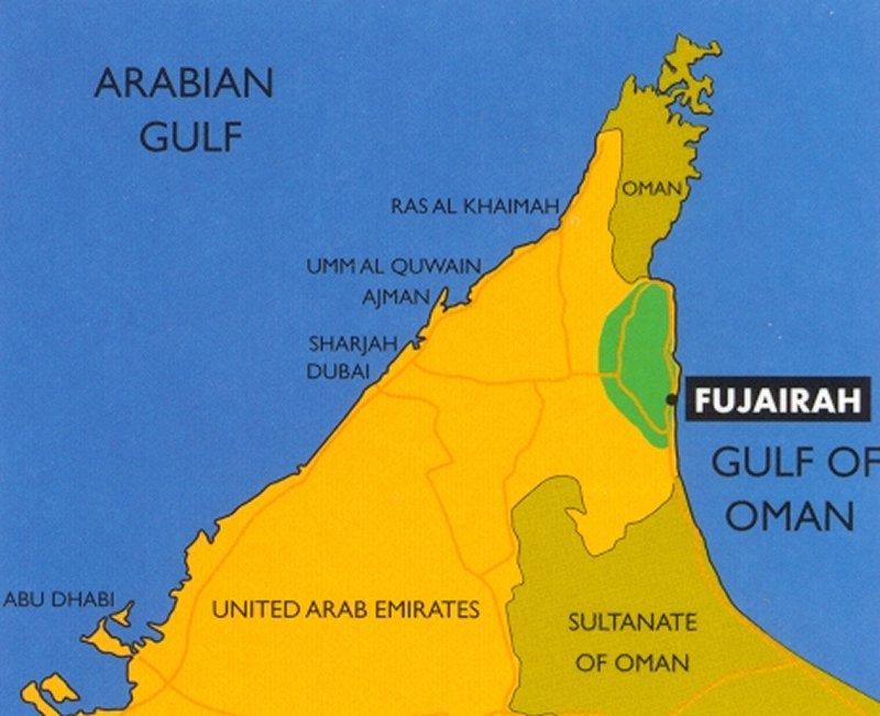 Fujeirah-Map